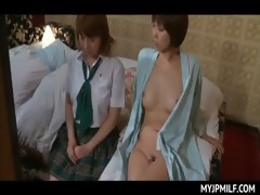 horny lesbo oriental mama undressing blameless