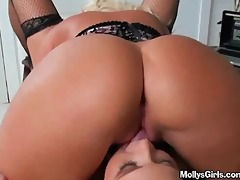 lesbo milfs take up with the tongue every others