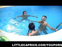 46yo caprice great lesbian act in the pool