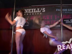 real hawt students disrobe bare in a nightclub