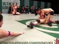 team tag fur pie wrestling