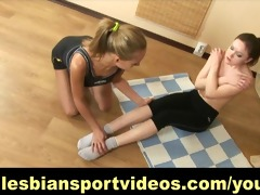 lesbo tutor tempted her naive trainee