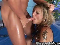 lascivious slut sucks three-some priceless pecker
