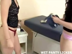 juicy panty licking at the doctors office