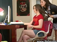 legal age teenager lesbos acquire juicy and