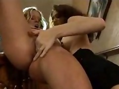 stairway to ding-dong lesbo gal on cutie lesbian