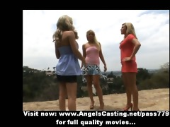 lesbo three-some sex fuckfest with licking and