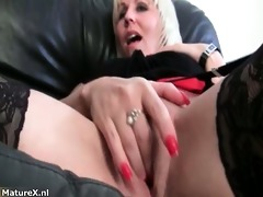sexually excited aged wife giving a masturbation