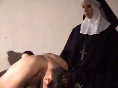 cutie hard spanked by nun