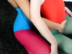 unshaved lesbos in nylon panties havingsex