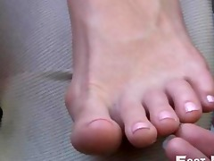 athena fatale sexy lesbian foot worship