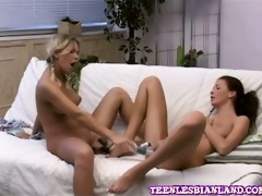 lesbo nubiles petra and kelan make love whilst