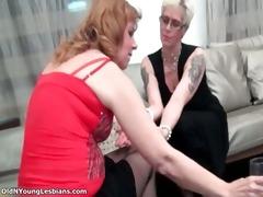 lustful older golden-haired lesbo woman part5