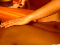 worthy lesbian babes using tantra massage