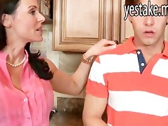 stepmom catches katie fucking in kitchen