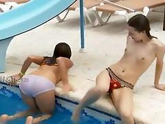 lesbo allies fingering wet cracks