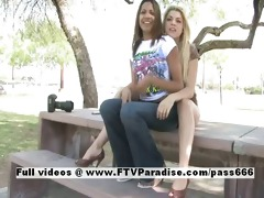 lilah delicate lesbian babes flashing outdoor