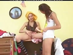 sapphic masturbation on the closet