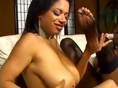 hawt breasty darksome lesbos cunt &; foot play