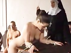 babe hard spanked by nun sadomasochism servitude