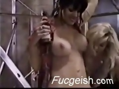 lascivious lesbo acquires her a-hole fingered and