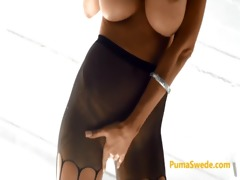 puma swede triple stocking play with nina elle