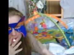 madura y joven madre lesbiana en web camera