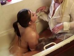 trailer for lesbo fucking dressed in baths tub,