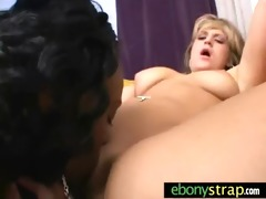 white gal drilled with ding-dong dildo by ebon