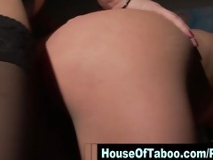 lesbo mistress dong copulates fastened hoe in
