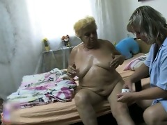 indecent older bitch receives her body rubbed