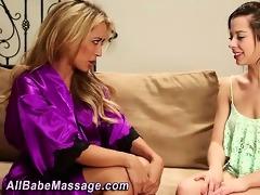 masseuse rubs breathtaking women body