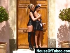 lesbian dominant-bitch toys fastened maids booty
