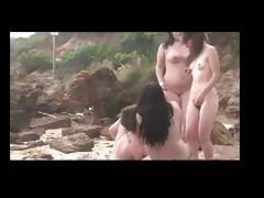 group having pleasure on beach bvr