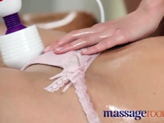 massage rooms firm youthful girl shares plump