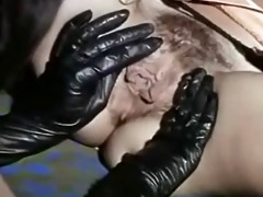 vintage lesbos licking hawt black boots and wet