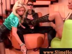 lesbian babes strapon twat fetish