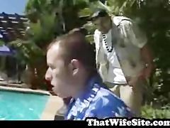 large bazookas drilled by pool side