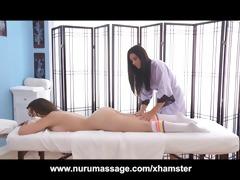 kira sinn receives a lesbo massage from india