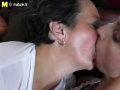 old lesbos squirts and fuck youthful gal