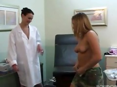 lesbo doctor in white brassiere 1/5