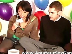 amateurs talking hot at a sex dare party