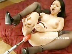 oriental slit filled with various sized fucking
