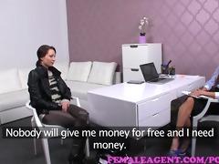 femaleagent agent dominates cash motivated girl