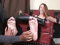 big ticklish feet