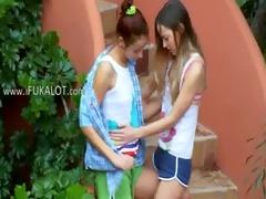 ivanas slaves of lesbian agonorgasmos outside